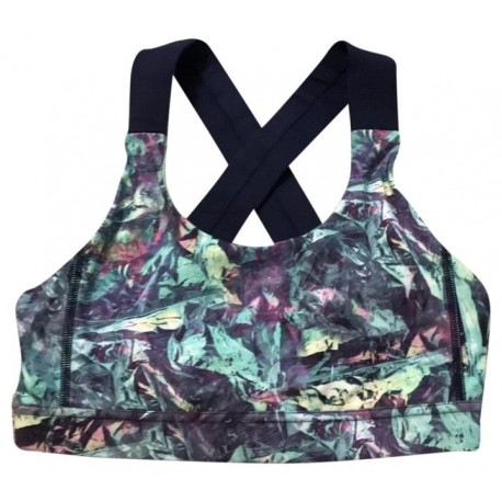 Multicolor Cross Back Activewear Sports Bra