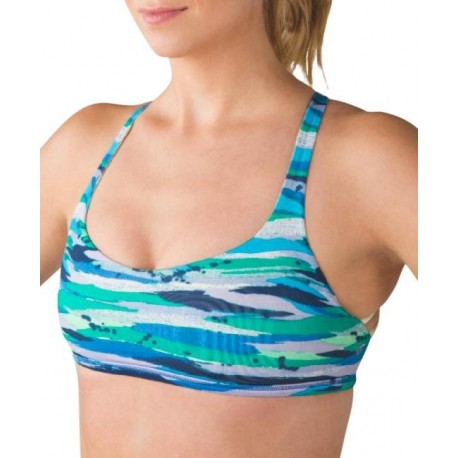 Multicolor Cross Back Activewear & Sports bra with adjustable back