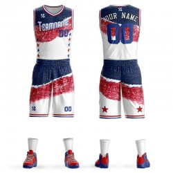 Custom Dry Fit Fabric Sublimated Basketball Uniforms