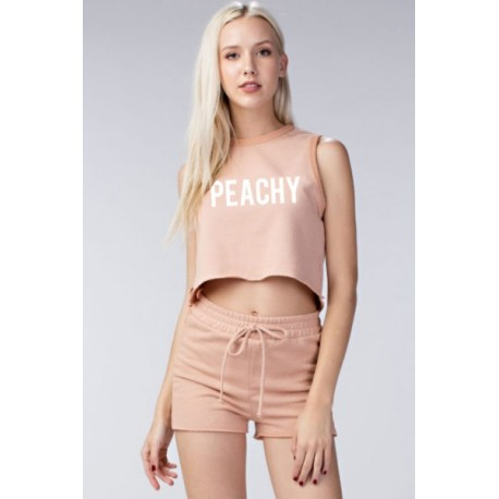 Sleeveless French Terry Cropped Hoodie Manufacturer